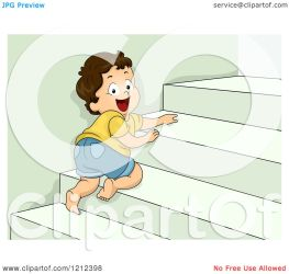 stairs crawling cartoon toddler boy clipart happy royalty vector bnp studio illustration protected license copyright law without
