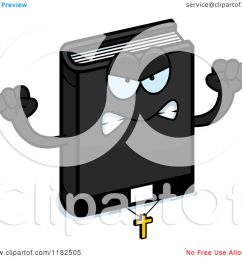 cartoon of a mad bible mascot royalty free vector clipart by cory thoman [ 1080 x 1024 Pixel ]