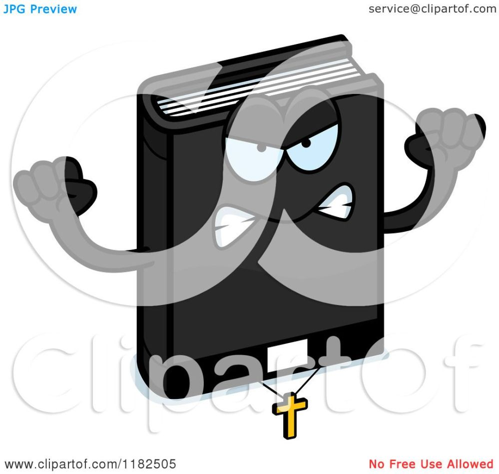 medium resolution of cartoon of a mad bible mascot royalty free vector clipart by cory thoman