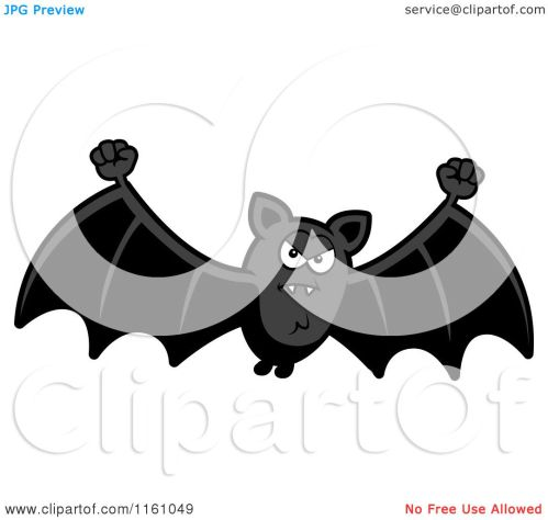 small resolution of cartoon of a mad vampire bat royalty free vector clipart by cory thoman
