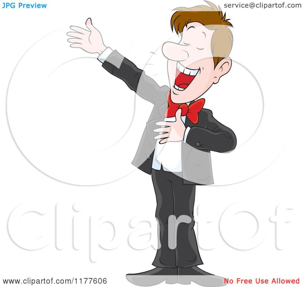 medium resolution of cartoon of a male opera singer performing royalty free vector clipart by alex bannykh
