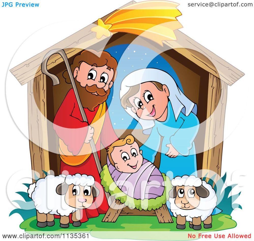 medium resolution of cartoon of a nativity scene royalty free vector clipart by visekart