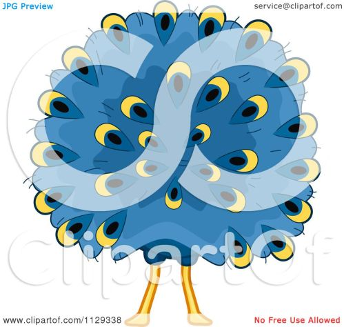 small resolution of cartoon of a peacock behind royalty free vector clipart by bnp design studio