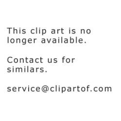 shopping bag pink mascot clipart cartoon royalty vector colematt illustration rf graphics