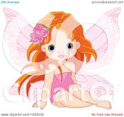 cartoon of red haired little