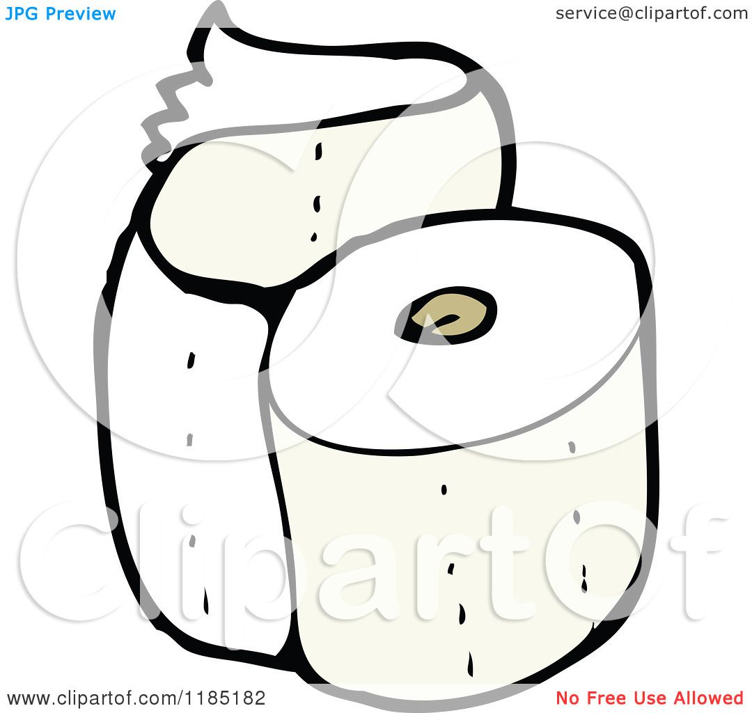 Cartoon Of A Roll Of Toilet Paper