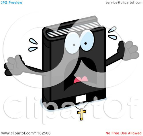 small resolution of cartoon of a scared bible mascot royalty free vector clipart by cory thoman