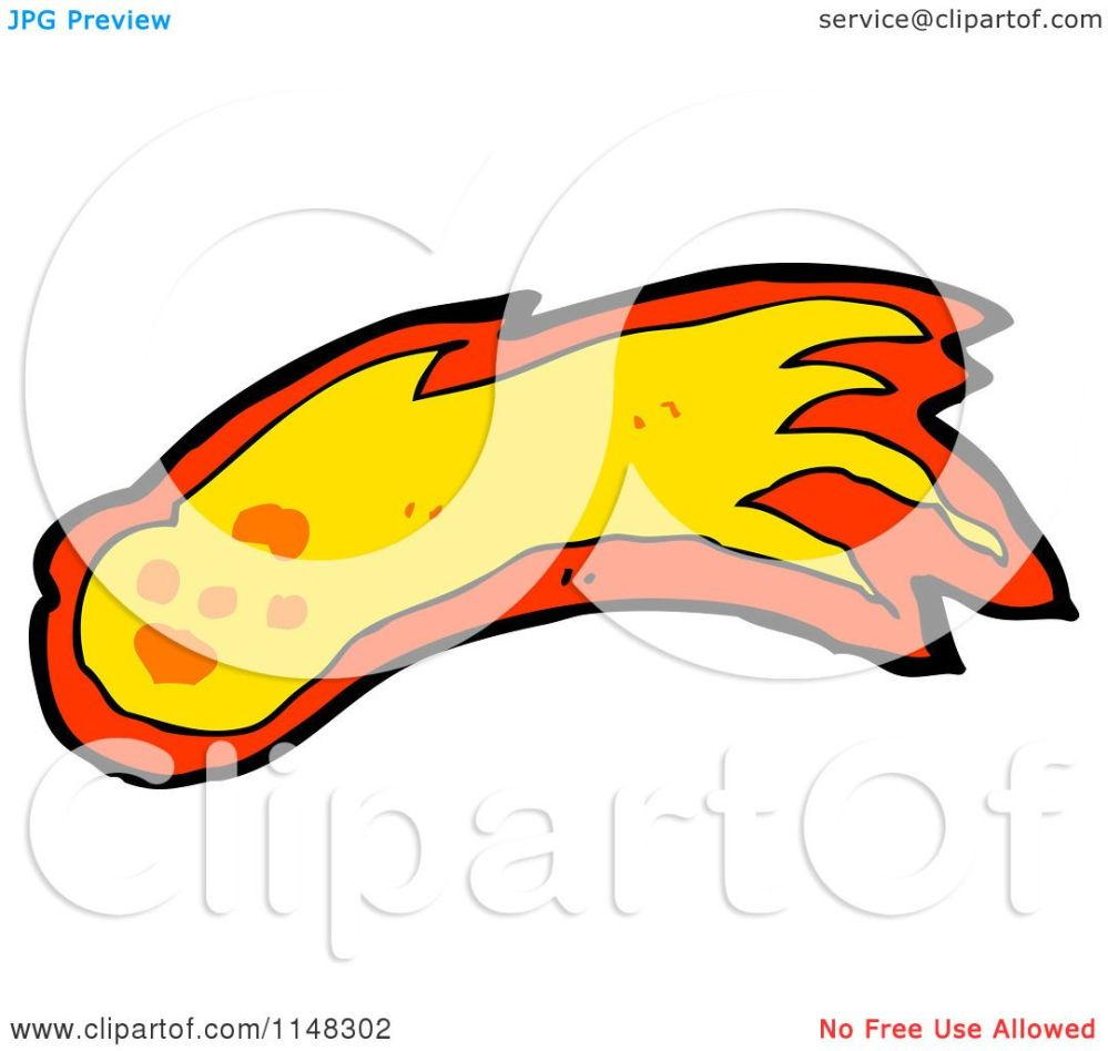medium resolution of cartoon of a shooting fireball or asteroid royalty free vector clipart by lineartestpilot