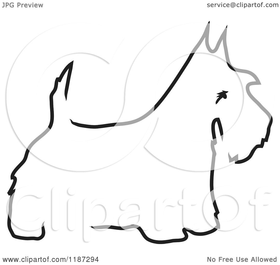 dog diagram outline large vga to hdmi cable wiring cartoon of a sketched black and white scottie