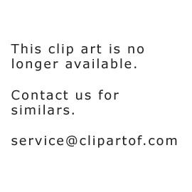Cartoon Of A Splitting Pink Germ Virus Bacteria