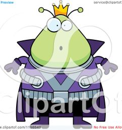 cartoon of a surprised chubby martian alien king royalty free vector clipart by cory thoman [ 1080 x 1024 Pixel ]