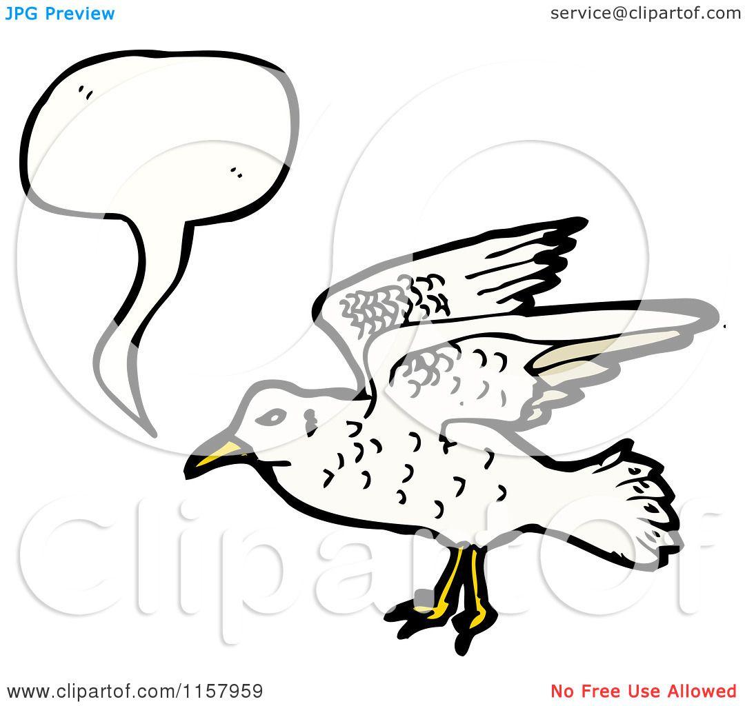 Cartoon Of A Talking Seagull
