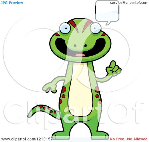 small resolution of cartoon of a talking skinny gecko royalty free vector clipart by cory thoman