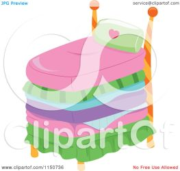 Cartoon of a Tall Princess Bed Royalty Free Vector Clipart by BNP Design Studio #1150736