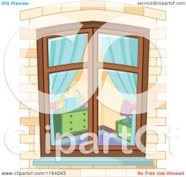 window bedroom through cartoon clipart royalty pushkin vector illustration protected license copyright law without