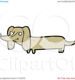 cartoon of a weiner dog royalty free vector clipart by lineartestpilot [ 1080 x 1024 Pixel ]