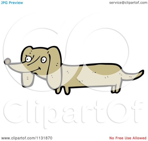 small resolution of cartoon of a weiner dog royalty free vector clipart by lineartestpilot