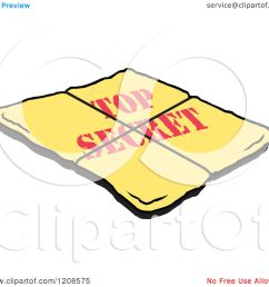 cartoon of a yellow top secret envelope royalty free vector clipart by johnny sajem [ 1080 x 1024 Pixel ]