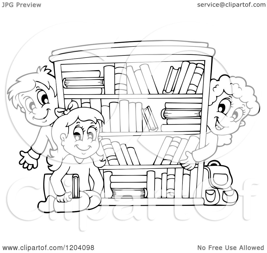 Bookshelf Clipart