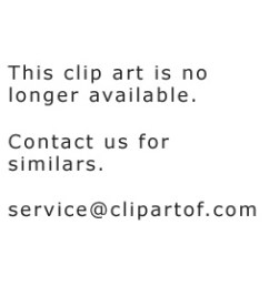 cartoon of crabs by a scared girl on a beach chair royalty free vector clipart [ 1080 x 1024 Pixel ]