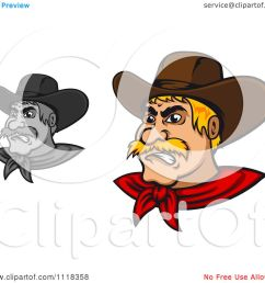 cartoon of grayscale and blond angry cowboys royalty free vector clipart by vector tradition sm [ 1080 x 1024 Pixel ]