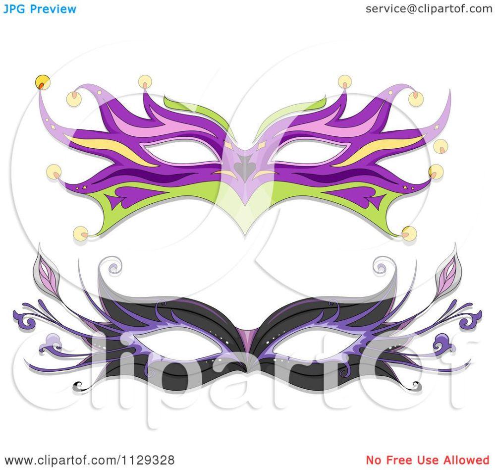 medium resolution of cartoon of masquerade ball masks royalty free vector clipart by bnp design studio