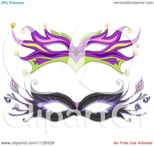 small resolution of cartoon of masquerade ball masks royalty free vector clipart by bnp design studio
