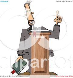 christian preacher holding a bible and giving a speech from behind a podium clipart by djart [ 1080 x 1024 Pixel ]