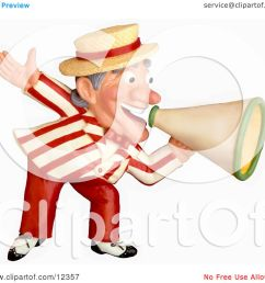 clay sculpture clipart carnival barker announcing with a megaphone royalty free 3d illustration [ 1080 x 1024 Pixel ]