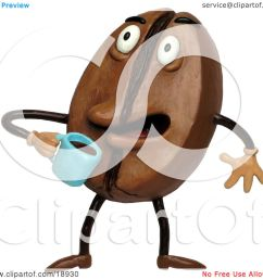 clay sculpture clipart coffee bean drinking java royalty free 3d illustration [ 1080 x 1024 Pixel ]