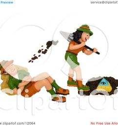 clay sculpture clipart female archaeologist digging up a pyramid and tossing dirt on her husband  [ 1080 x 1024 Pixel ]