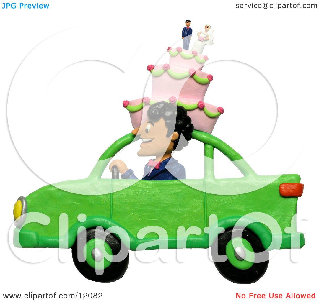 Pin Man Driving Clipart Cake