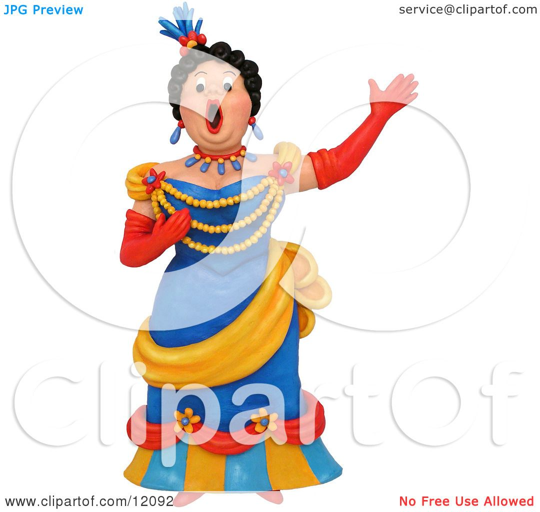 hight resolution of clay sculpture clipart opera singer woman performing royalty free 3d illustration by amy vangsgard