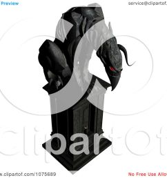 clipart 3d black gargoyle statue with red eyes royalty free cgi illustration by ralf61 [ 1080 x 1024 Pixel ]