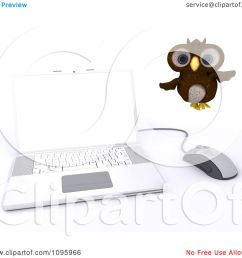 clipart 3d brown owl flying by a laptop royalty free cgi illustration by kj pargeter [ 1080 x 1024 Pixel ]