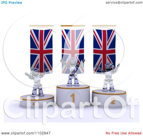 small resolution of clipart 3d champion robots on first place and runner up podiums under british flags royalty free cgi illustration by kj pargeter