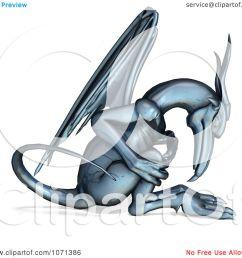 clipart 3d fantasy chrome gargoyle 1 royalty free cgi illustration by ralf61 [ 1080 x 1024 Pixel ]