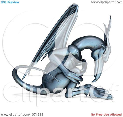 small resolution of clipart 3d fantasy chrome gargoyle 1 royalty free cgi illustration by ralf61