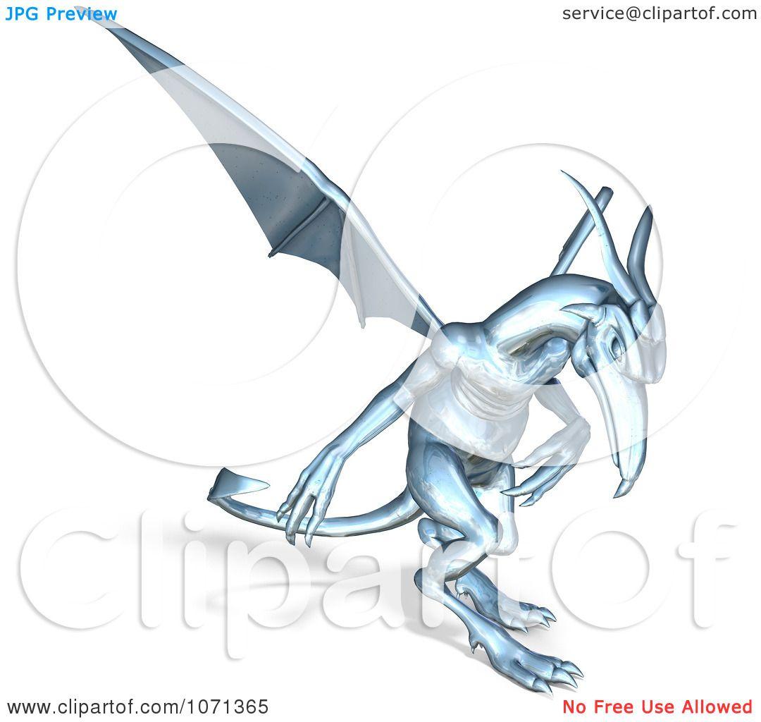 hight resolution of clipart 3d fantasy chrome gargoyle 3 royalty free cgi illustration by ralf61