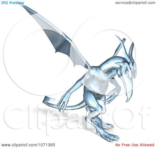 small resolution of clipart 3d fantasy chrome gargoyle 3 royalty free cgi illustration by ralf61