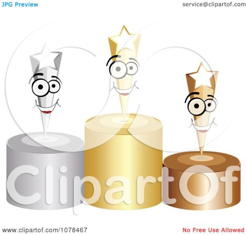 small resolution of clipart 3d first second and third place winner shooting stars on gold silver and bronze podiums royalty free vector illustration by andrei marincas
