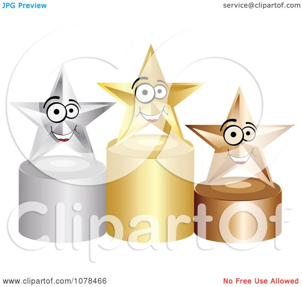 medium resolution of clipart 3d first second and third place winner stars on gold silver and bronze podiums royalty free vector illustration by andrei marincas