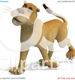 clipart 3d lioness walking 1 royalty free cgi illustration by ralf61 [ 1080 x 1024 Pixel ]