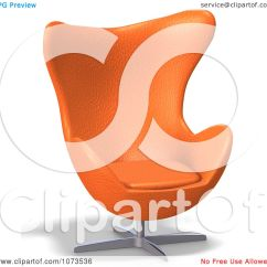 Orange Egg Chair High Chairs That Attach To Table Clipart 3d Retro 1 Royalty Free Cgi