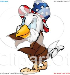 clipart american bald eagle wearing an uncle sam hat royalty free vector illustration by dero [ 1080 x 1024 Pixel ]