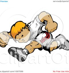 clipart athletic blond boy running royalty free vector illustration by chromaco [ 1080 x 1024 Pixel ]