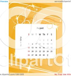clipart august 2012 calendar over orange with vines royalty free vector illustration by milsiart [ 1080 x 1024 Pixel ]