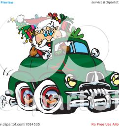 clipart aussie santa driving a holden fj royalty free vector illustration by dennis holmes designs [ 1080 x 1024 Pixel ]