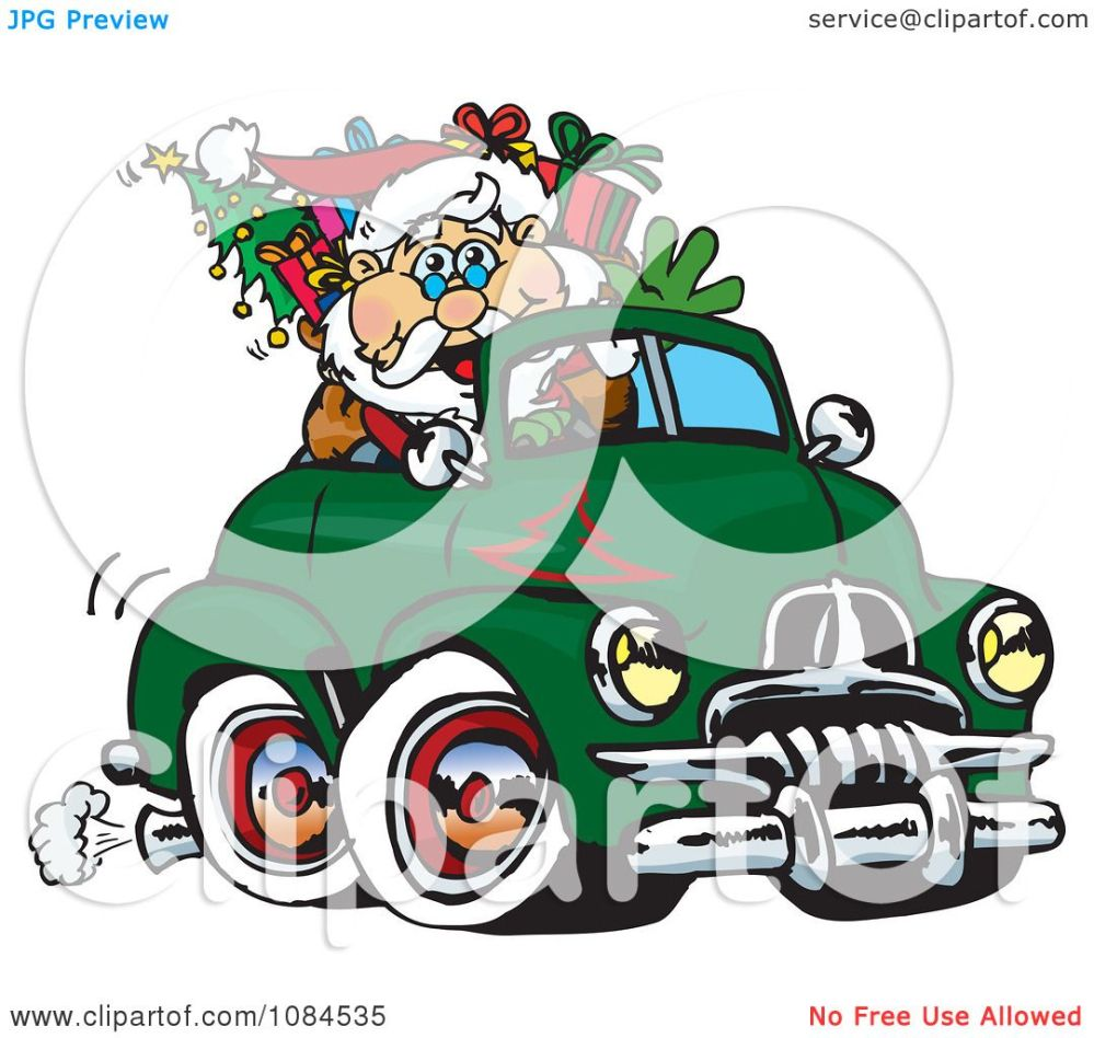 medium resolution of clipart aussie santa driving a holden fj royalty free vector illustration by dennis holmes designs