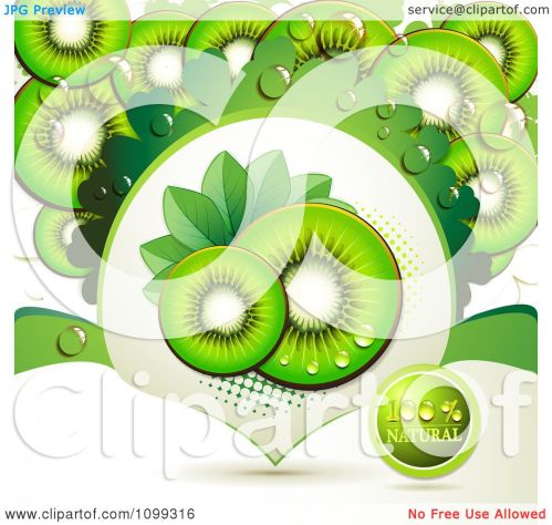 small resolution of clipart background of kiwi slices with a natural label 2 royalty free vector illustration by merlinul